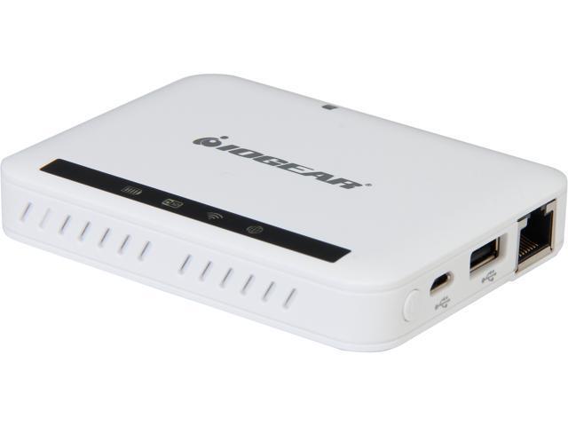 IOGEAR GWFRSDU MediaShair Wireless Media Hub w/SD/USB Input & Built-in Power Station