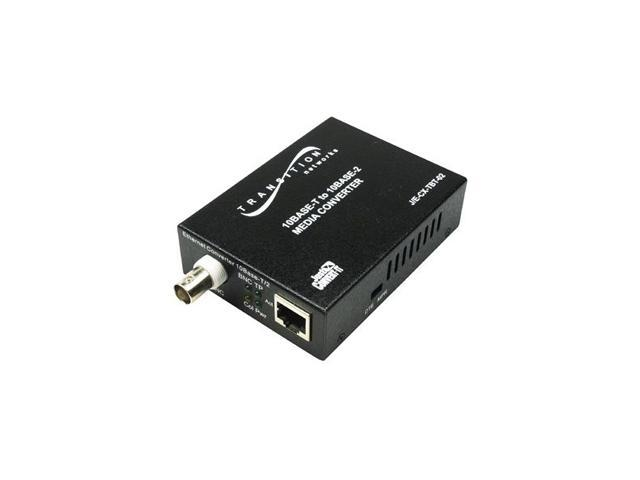 Transition Networks J/E-CX-TBT-02-NA Just Convert-IT J/E-CX-TBT-02 RJ-45 To BNC Media Converter