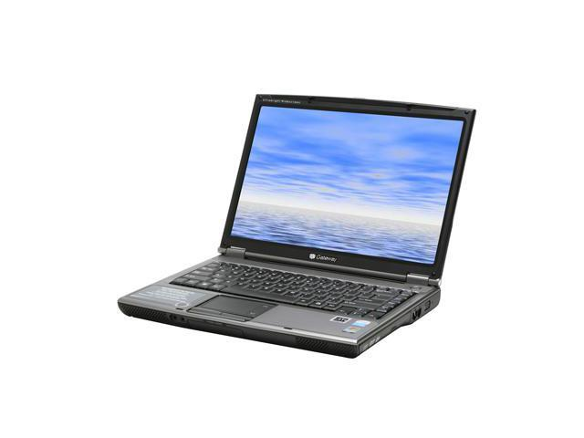 "Gateway MT3705 NoteBook Intel Pentium dual-core T2060(1.60GHz) 14.1"" Wide XGA 1GB Memory DDR2 533 100GB HDD 4200rpm DVD Super Multi ATI Radeon Xpress 200M IGP"