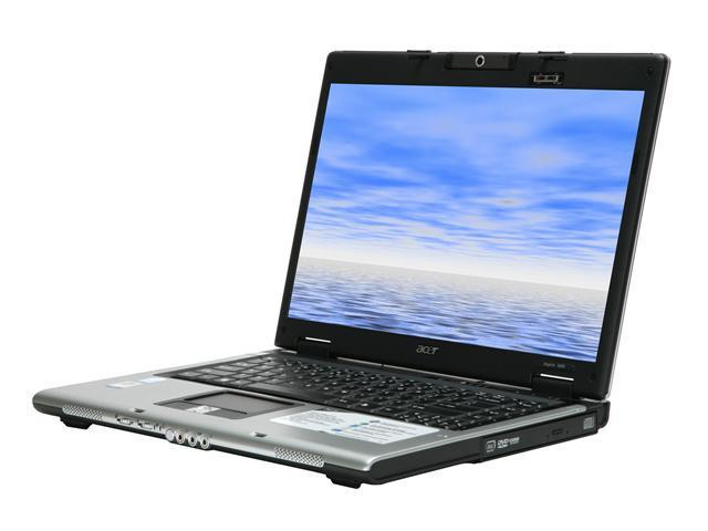 "Acer Aspire AS3690-2710 NoteBook Intel Celeron M 420(1.60GHz) 15.4"" Wide XGA 512MB Memory DDR2 533 80GB HDD DVD Super Multi Intel GMA950"