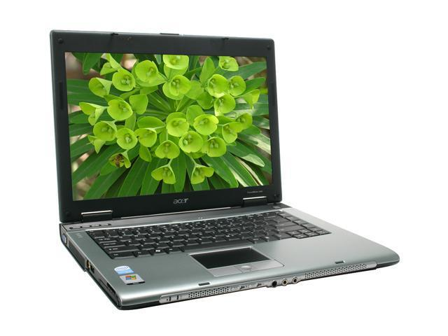 "Acer TravelMate TM2480-2968 NoteBook Intel Celeron M 440(1.86GHz) 14.1"" Wide XGA 512MB Memory DDR2 533 80GB HDD DVD/CD-RW Combo Intel GMA950"