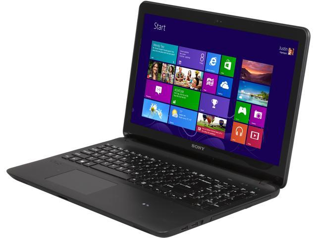 SONY Laptop VAIO F Series SVF15414CXB AMD A10-Series A10-5745M (2.10 GHz) 4 GB Memory 750 GB HDD AMD Radeon HD 8610G 15.5