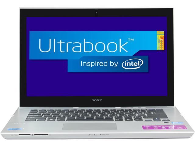"SONY VAIO T Series SVT14124CXS Intel Core i3 4 GB Memory 500 GB HDD 24 GB SSD 14"" Touchscreen Ultrabook Windows 8 64-Bit"