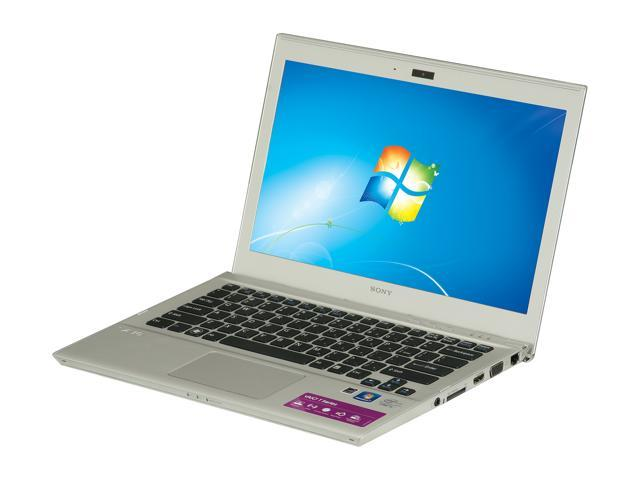 "SONY VAIO SVT13112FXS Intel Core i5 4 GB Memory 500 GB HDD 32 GB SSD 13.3"" Ultrabook Windows 7 Home Premium 64-Bit"
