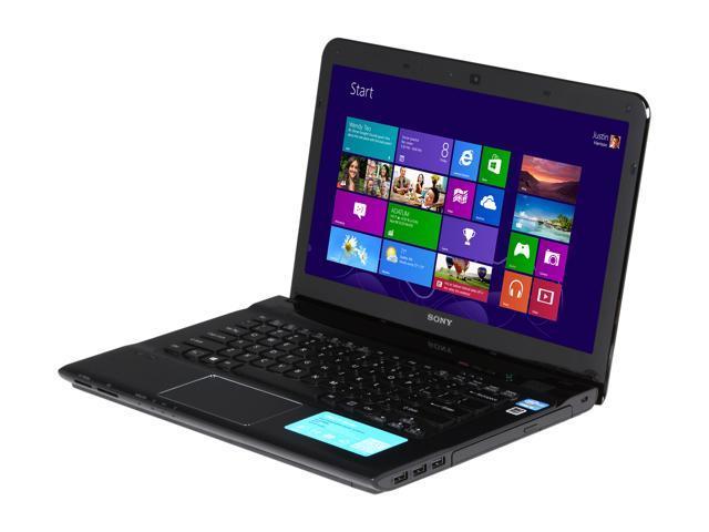 "SONY Laptop VAIO E Series SVE14125CXB Intel Core i5 3210M (2.50 GHz) 4 GB Memory 500 GB HDD Intel HD Graphics 4000 14.0"" ..."