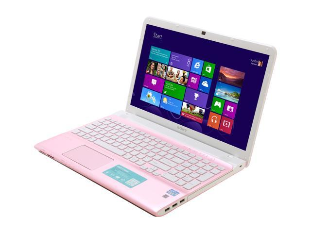SONY Laptop VAIO E Series SVE15124CXP Intel Core i3 3110M (2.40 GHz) 6 GB Memory 750 GB HDD Intel HD Graphics 4000 15.5