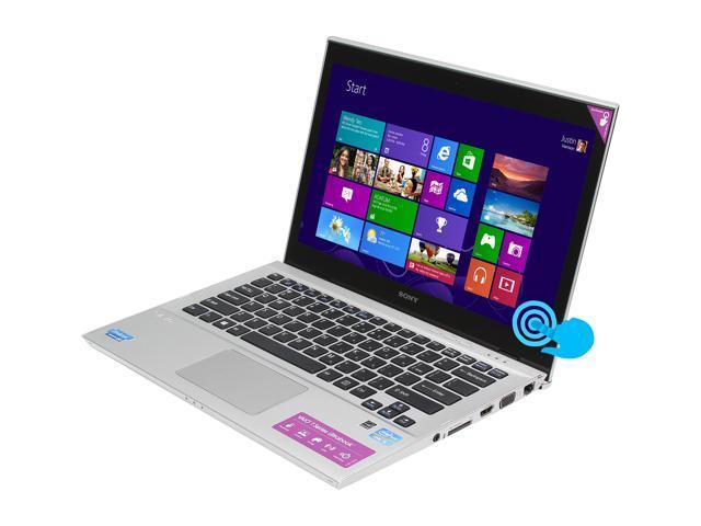"SONY VAIO T Series SVT13126CXS Intel Core i5 6 GB Memory 500GB + 32GB MLC Hybrid(5400rpm Hybrid) HDD 13.3"" Touchscreen Ultrabook ..."