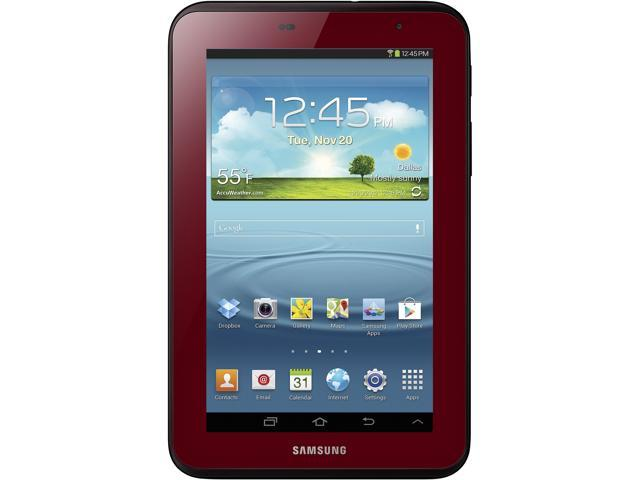 SAMSUNG Galaxy Tab 2 GT-P3113GRSXAR WiFi 7-inch Tablet Bundle with Case – Garnet Red