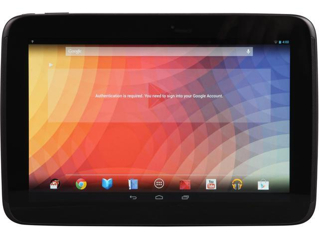 "Refurbished: Nexus 10 by Samsung 10"" Android 4.2 Jelly Bean Tablet 1.7Ghz A15 Dual Core Processor 2GB RAM 32GB Storage Memory"