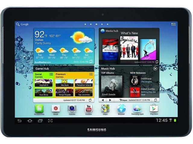 SAMSUNG Galaxy Tab 2 Qualcomm Dual Core 1 GB Memory 16 GB 10.1