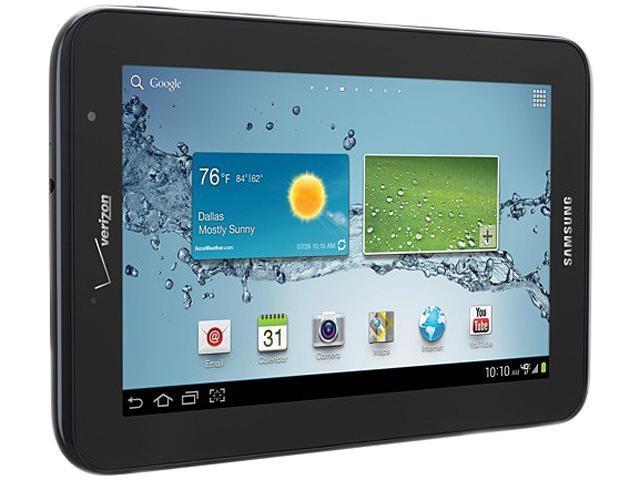 SAMSUNG Galaxy Tab 2 7.0 LTE (Verizon) Qualcomm Snapdragon dual-core 1 GB Memory 8 GB 7.0