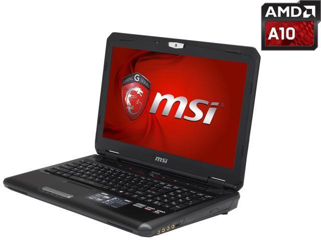 MSI GX Series GX60 Destroyer-280 Gaming Laptop AMD A-Series A10-5750M (2.50 GHz) 8 GB Memory 1 TB HDD AMD Radeon R9 M290X 2 GB 15.6