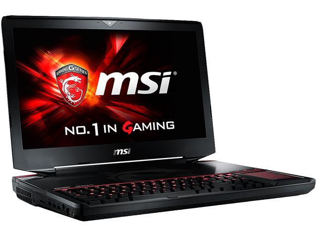 MSI GT Series GT80S 6QD-011US Gaming Laptop Intel Core i7 6820HK (2.70 GHz) 16 GB Memory 1 TB HDD 256 GB SSD 18.4