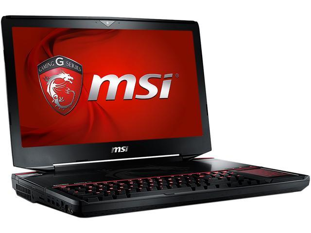 MSI GT Series GT80S 6QE-001US Gaming Laptop Intel Core i7 6820HK (2.70 GHz) 16 GB Memory 1 TB HDD 256 GB SSD 18.4