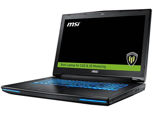 MSI WT72 6QM-425US Mobile Workstation Intel Xeon E3-1505L v5 (2.00 GHz) 32 GB Memory 1 TB HDD 256 GB SSD NVIDIA Quadro M5000M 17.3