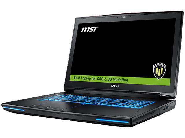 MSI WT72 6QK-296US Mobile Workstation Intel Core i7 6700HQ (2.60 GHz) 16 GB Memory 1 TB HDD 256 GB SSD NVIDIA Quadro M3000M 17.3