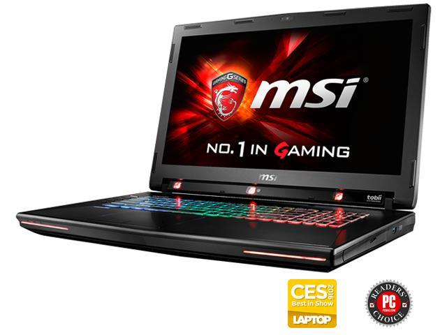 MSI GT Series GT72S G Tobii-805 Gaming Laptop with Tobii Eye Tracking Technology 6th Gen Intel Core i7 6820HK 32GB Memory 1TB HDD 256GB SSD NVIDIA GeForce GTX 980M 8GB 17.3