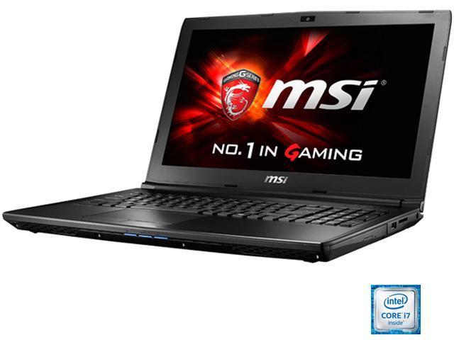 MSI GL62 6QF-627 Gaming Laptop Intel Core i7 6700HQ (2.60 GHz) 8 GB Memory 1 TB HDD NVIDIA GeForce GTX 960M 2 GB GDDR5 15.6