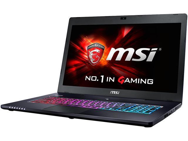 MSI GS Series GS72 6QE-203CA Stealth Pro Gaming Laptop Intel Core i7 6700HQ (2.60 GHz) 16 GB Memory 1 TB HDD 256 GB SSD NVIDIA GeForce GTX 970M 3 GB GDDR5 17.3