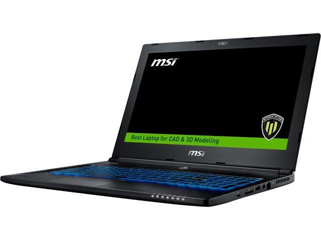MSI WorkStation Series WS60 6QJ-430 Mobile Workstation 6th Generation Intel Core i7 6700HQ (2.60 GHz) 16 GB Memory 1 TB HDD 128 GB SSD NVIDIA Quadro M2000M 15.6