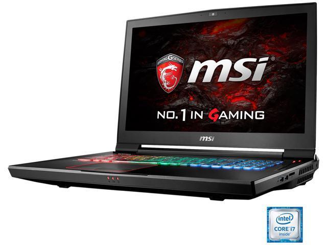 MSI GT Series GT73VR TITAN 4K-226 Gaming Laptop Intel Core i7 6820HK (2.70 GHz) 16 GB Memory 1 TB HDD NVIDIA GeForce GTX 1070 8 GB GDDR5 17.3