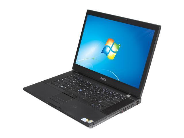 """DELL Laptop Latitude E6500 Intel Core 2 Duo 2.53 GHz 4 GB Memory 160 GB HDD 0 GB SSD 15.5"""" Windows 7 Professional"""