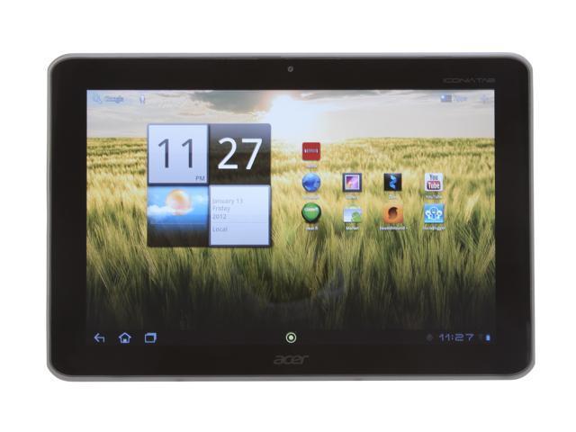 """Acer Iconia Tab A200-10g16u 16GB EMMC 10.1"""" Tablet PC - Titanium Gray"""
