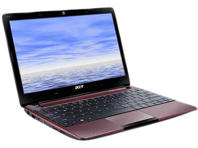 Acer Aspire One Burgundy Red AMD Dual-Core Processor C-60 (1.00 GHz) 11.6