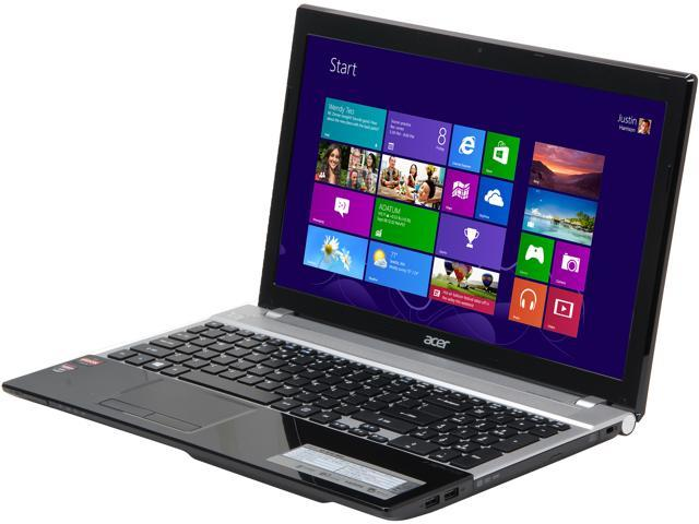 "Acer Laptop Aspire V3-551G-8454 AMD A8-Series A8-4500M (1.90 GHz) 4 GB Memory 500 GB HDD AMD Radeon HD 7670M 15.6"" Windows ..."