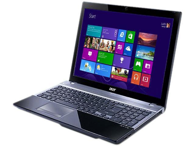 Acer Laptop Aspire V3-571-73636G75Makk Intel Core i7 3632QM (2.20 GHz) 6GB DDR3 Memory 750 GB HDD 15.6