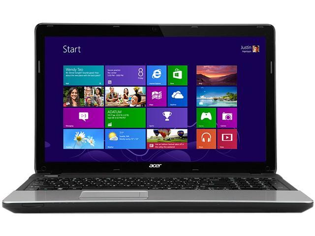 Acer Laptop Aspire E E1-521-0851 AMD E1-Series E1-1200 (1.4 GHz) 4 GB Memory 500 GB HDD AMD Radeon HD 7310 15.6