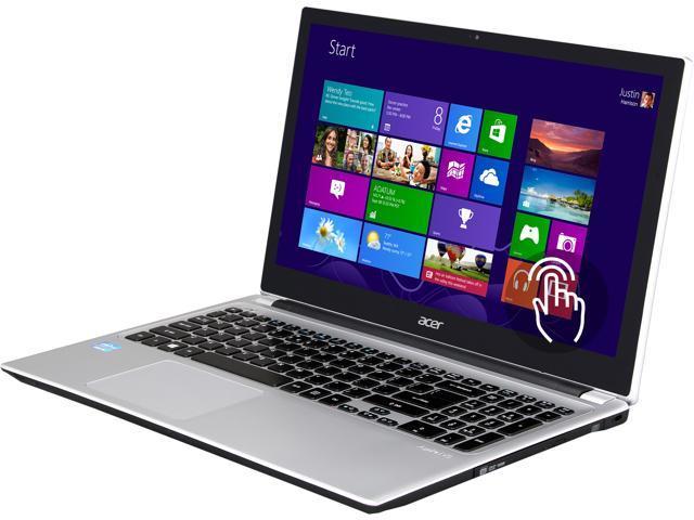 "Acer Laptop Aspire V5-571P-6831 Intel Core i5 3337U (1.80 GHz) 6 GB Memory 750 GB HDD Intel HD Graphics 4000 15.6"" Touchscreen ..."