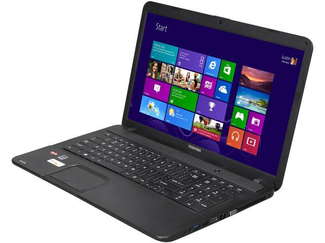 TOSHIBA Laptop Satellite C875D-S7330 AMD A4-Series A4-4300M (2.5 GHz) 4 GB Memory 500 GB HDD AMD Radeon HD 7420G 17.3