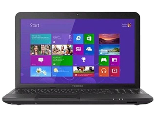 TOSHIBA Laptop Satellite C855D-S5340 (PSCBQU-001005) AMD E1-Series E1-1200 (1.4 GHz) 4 GB Memory 320 GB HDD AMD Radeon HD 7310 15.6