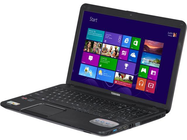 "TOSHIBA Laptop Satellite C855D-S5320 AMD E2-Series E2-1800 (1.7 GHz) 4 GB Memory 500 GB HDD AMD Radeon HD 7340 15.6"" Windows ..."