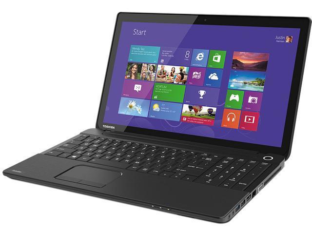 TOSHIBA Laptop Satellite C55-A5249 Intel Celeron 1037U (1.80 GHz) 4 GB Memory 500 GB HDD Intel HD Graphics 15.6