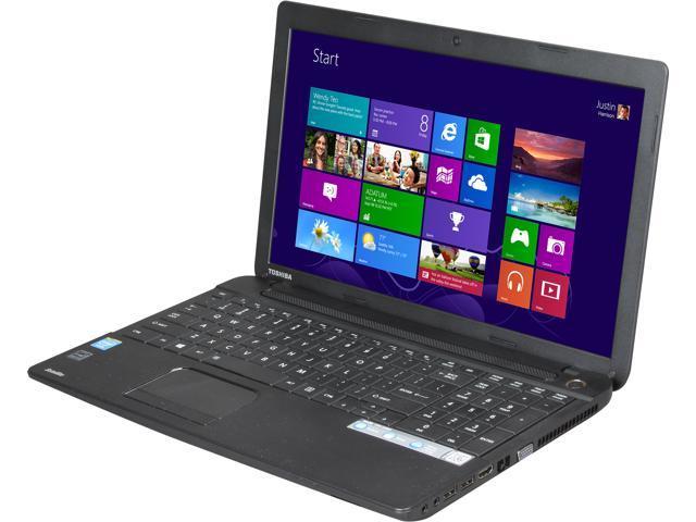 "TOSHIBA Laptop C55-A5220 Intel Celeron 1037U (1.80 GHz) 4 GB Memory 500 GB HDD Intel HD Graphics 15.6"" Windows 8"