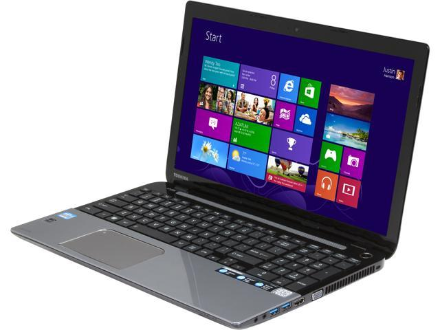 TOSHIBA Laptop L55-A5284B Intel Core i5 3337U (1.80 GHz) 8 GB Memory 750 GB HDD Intel HD Graphics 4000 15.6