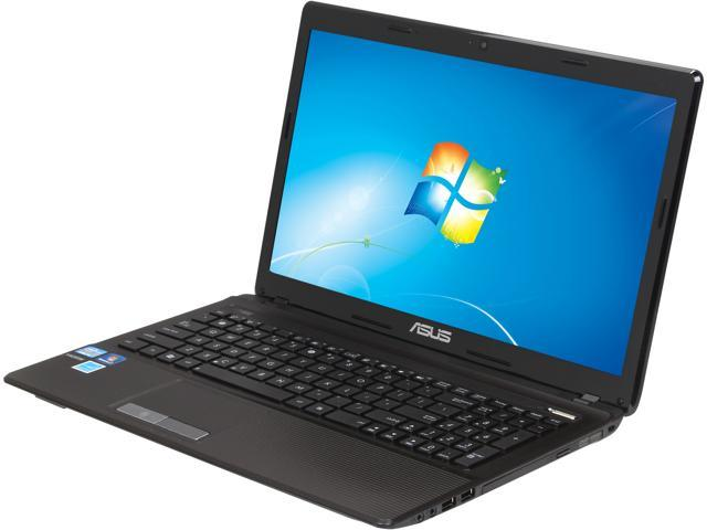 "ASUS Laptop K53E-BBR19 Intel Core i5 2450M (2.50 GHz) 4 GB Memory 500 GB HDD Intel HD Graphics 3000 15.6"" Windows 7 Home ..."
