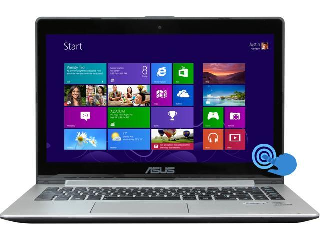 "ASUS VivoBook S400CA-RS51-CB Intel Core i5 6 GB Memory 500 GB HDD 24 GB SSD 14.1"" Touchscreen Ultrabook Windows 8"