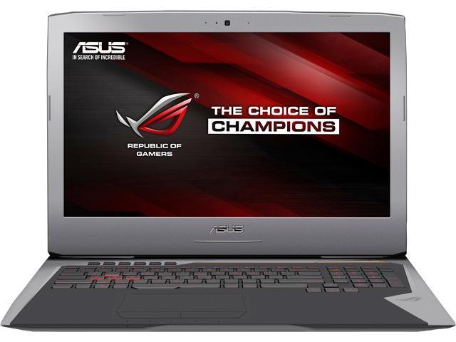 ASUS ROG G752VT-DH74 Gaming Laptop Intel Core i7 6700HQ (2.60 GHz) 24 GB Memory 1 TB HDD 256 GB SSD NVIDIA GeForce GTX 970M 6 GB GDDR5 17.3