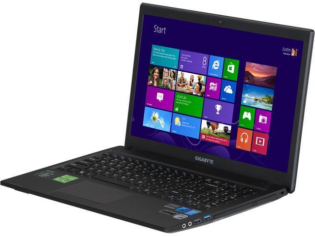 GIGABYTE Laptop Q2556N-CF2 Intel Core i5 4200M (2.50 GHz) 8 GB Memory 1 TB HDD NVIDIA GeForce GT 740M 15.6