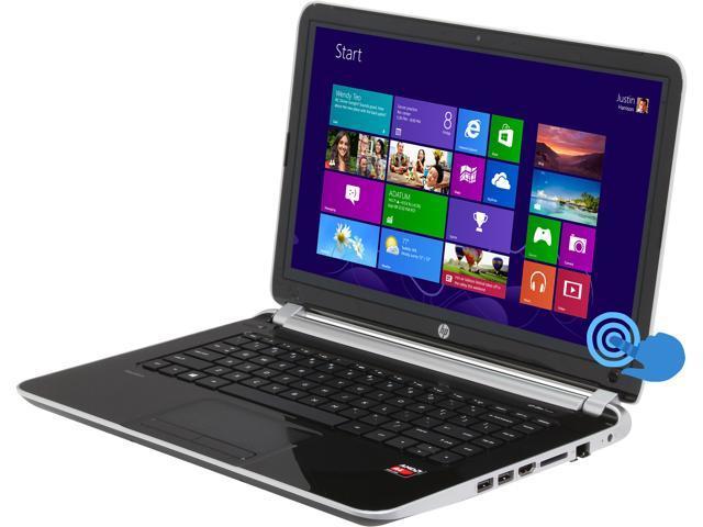 HP Laptop TouchSmart 14-f020us AMD A4-Series A4-5000 (1.50 GHz) 4 GB Memory 750 GB HDD AMD Radeon HD 8330 14.0