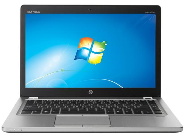 HP EliteBook Folio 9470M Intel Core i5 8GB Memory 256GB SSD Ultrabook Windows 7 Professional