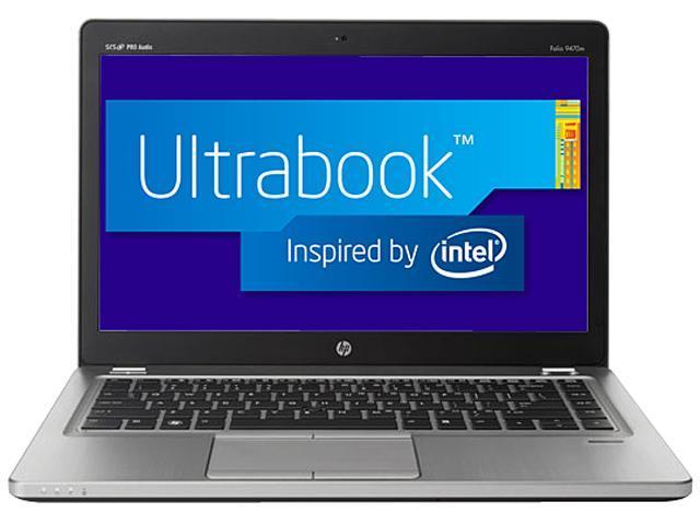 "HP EliteBook Folio 9470m Intel Core i5 4 GB Memory 180 GB SSD 14"" Ultrabook Windows 7 Professional 64-bit"