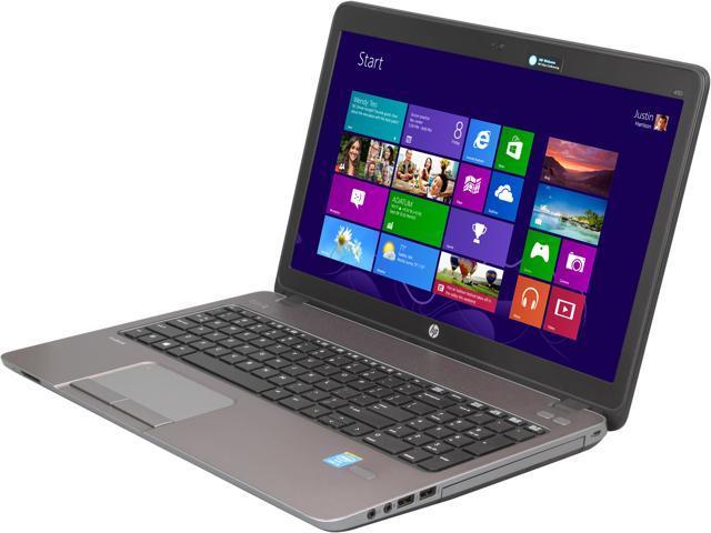 HP Laptop ProBook 450 G1 (F2P37UT#ABA) Intel Core i3 4000M (2.4 GHz) 4 GB Memory 500 GB HDD Intel HD Graphics 4600 15.6