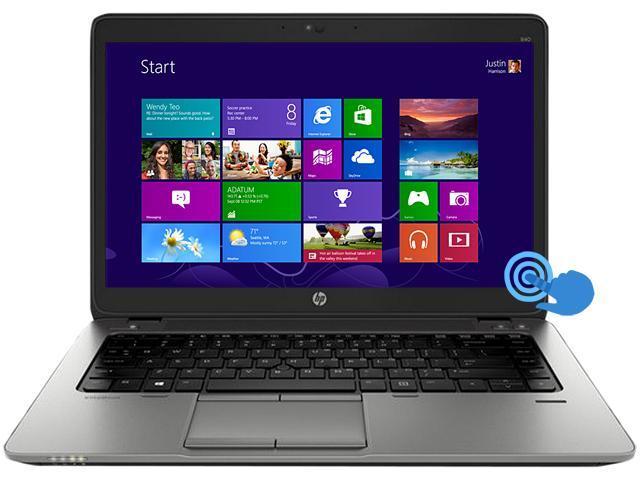 "HP EliteBook 840 G1 (E3W26UT#ABA) Intel Core i5 8 GB Memory 180 GB SSD 14"" Touchscreen Ultrabook Windows 8 Pro 64-bit"