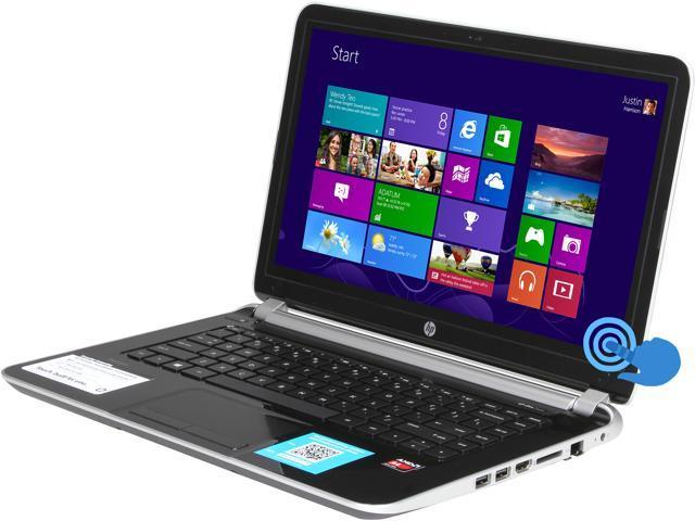 "HP Laptop Pavilion 14-f021nr AMD A4-Series A4-5000 (1.50 GHz) 4 GB Memory 750 GB HDD AMD Radeon HD 8330 14.0"" Touchscreen ..."