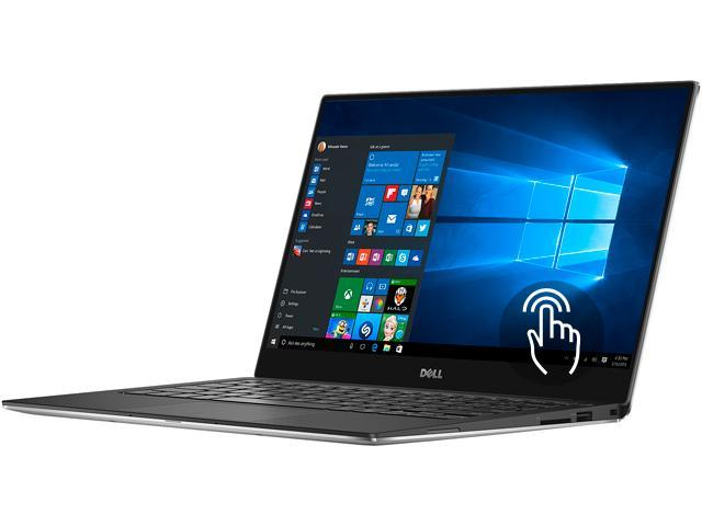 DELL Laptop XPS 13 Touch XPS9350-8008SLV Intel Core i7 6th Gen 6560U (2.20 GHz) 16 GB Memory 512 GB SSD Intel Iris Graphics 540 13.3
