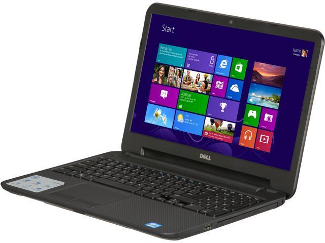 "DELL Laptop Inspiron 15 (i15RV-1383BLK) Intel Core i3 3217U (1.80 GHz) 4 GB Memory 500 GB HDD Intel HD Graphics 4000 15.6"" ..."